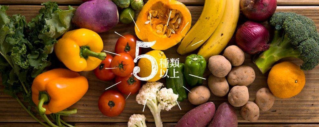 オイシックスのミールキットは野菜が5種類以上使用されている