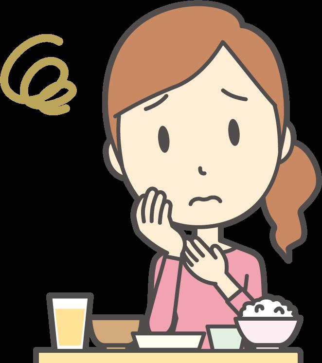 食材宅配サービスについて悩む主婦イメージ1