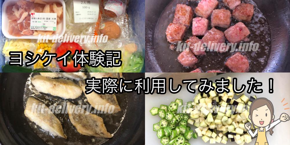 ヨシケイのプチママコースを実際に試した料理イメージ
