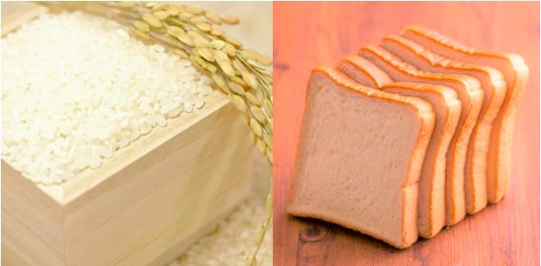 食材宅配の米・パンの価格を比較しているイメージ