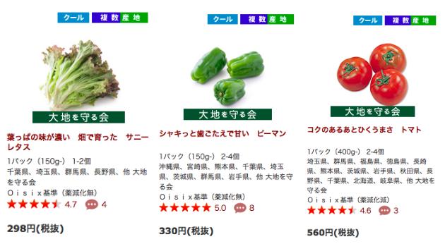 オイシックス 大地を守る会野菜