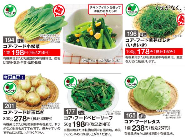 パルシステム 野菜 安全 コアフード