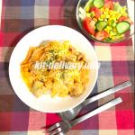 ヨシケイ体験談(ブログ)『とろーりチーズの洋風親子丼』を作ってみました!