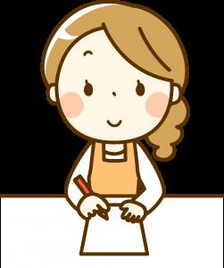 食材宅配の解約・脱退の説明をする主婦