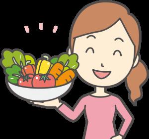 食材宅配の食材の安全性を説明する主婦
