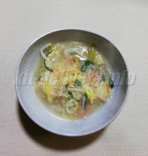 パルシステムのミールキットのスープの完成イメージ